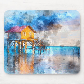 Ambergris Caye Belize Vacation Holiday Mouse Mat