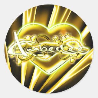 Amberlee Round Sticker