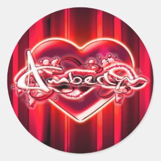 Amberlyn Round Sticker