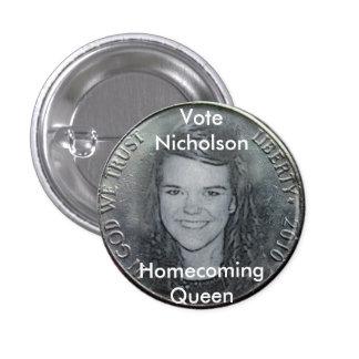 AmberNicholson2010Nickel Pinback Buttons