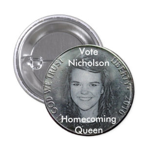 AmberNicholson2010Nickel 3 Cm Round Badge