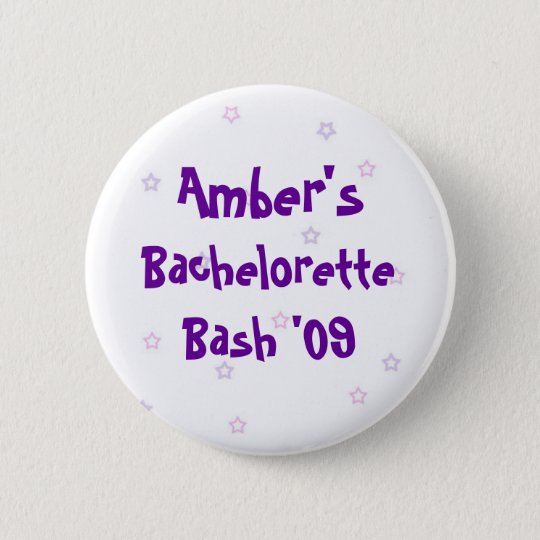Amber's Bachelorette Bash 6 Cm Round Badge