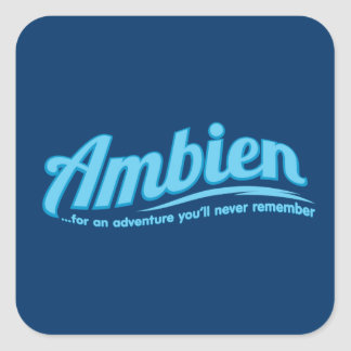 Ambien For an adventure you ll never remember Sticker