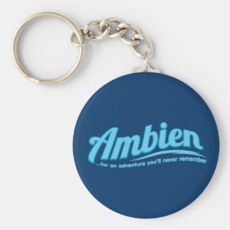 Ambien: For an adventure you'll never remember Basic Round Button Key Ring
