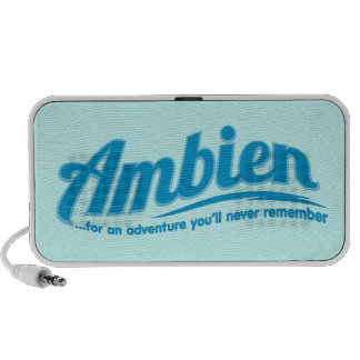 Ambien: For an adventure you'll never remember iPod Speaker