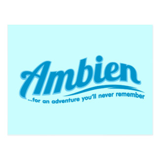 Ambien: For an adventure you'll never remember Postcards