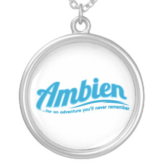 Ambien: For an adventure you'll never remember Round Pendant Necklace