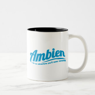 Ambien: For an adventure you'll never remember Two-Tone Mug