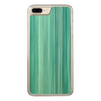 Ambient #5 Teal, original modern stripped pattern Carved iPhone 8 Plus/7 Plus Case
