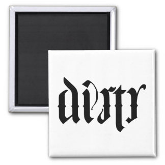 Ambigram Dishwasher Square Magnet