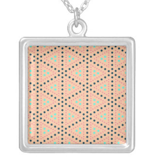 Ambitious Determined Loving Reward Square Pendant Necklace