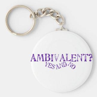 Ambivalent? Basic Round Button Key Ring