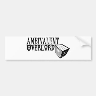 Ambivalent Overlord logo Bumper Stickers