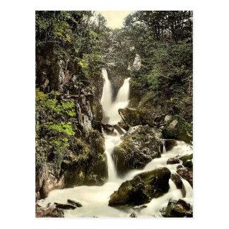 Ambleside, Stock Ghyll Force, Lake District, Engla Postcard