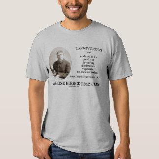 Ambrose Bierce Carnivorous The Devil's Dictionary T Shirt