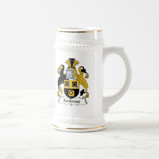Ambrose Family Crest Beer Stein