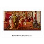 Ambrose Legend By Fra Filippo Lippi Postcard