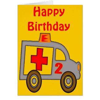Ambulance 2nd Birthday Gifts Greeting Card