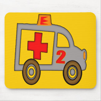 Ambulance 2nd Birthday Gifts Mouse Pad