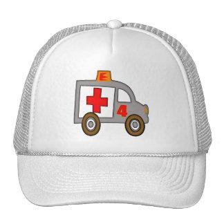 Ambulance 4th Birthday Gifts Trucker Hats