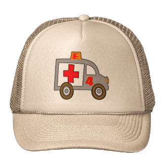 Ambulance 4th Birthday Gifts Trucker Hat