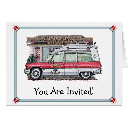 Ambulance Birthday Party Invitation