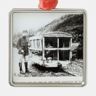 Ambulance Car on One of the Light Railways Christmas Ornament