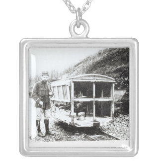 Ambulance Car on One of the Light Railways Silver Plated Necklace