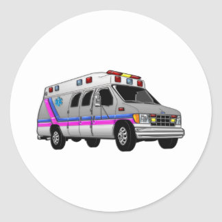 Ambulance Classic Round Sticker