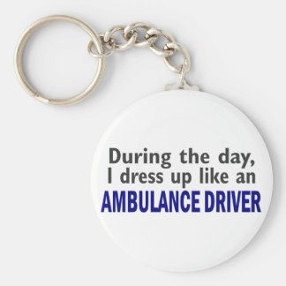 AMBULANCE DRIVER During The Day Basic Round Button Key Ring