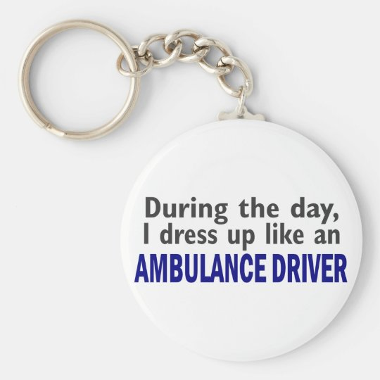 AMBULANCE DRIVER During The Day Basic Round Button