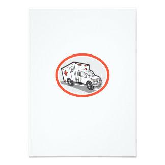 Ambulance Emergency Vehicle Cartoon 11 Cm X 16 Cm Invitation Card