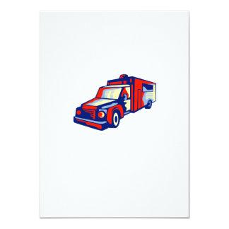 Ambulance Emergency Vehicle Retro 11 Cm X 16 Cm Invitation Card