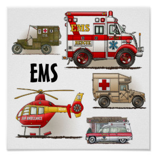 Ambulance EMS Vehicles Poster