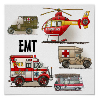 Ambulance EMT Vehicles Poster
