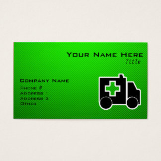 Ambulance; Green Business Card