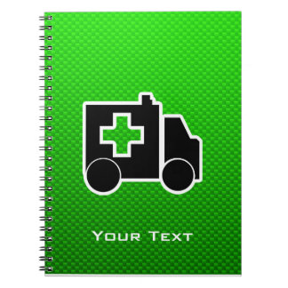Ambulance; Green Spiral Notebook