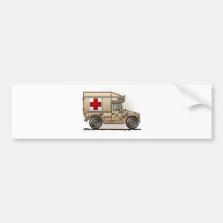 Ambulance Military Hummer Medic Bumper Sticker