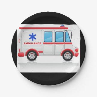 Ambulance Paper Plates