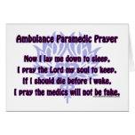 Ambulance Paramedic Prayer Greeting Card