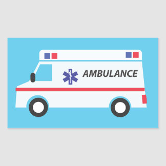 Ambulance Rectangular Sticker