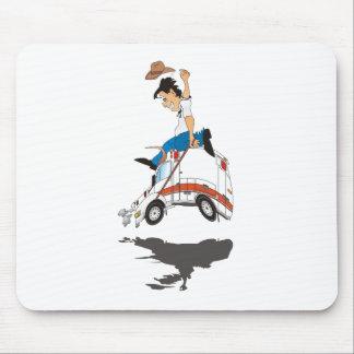 Ambulance Rodeo Mouse Pad