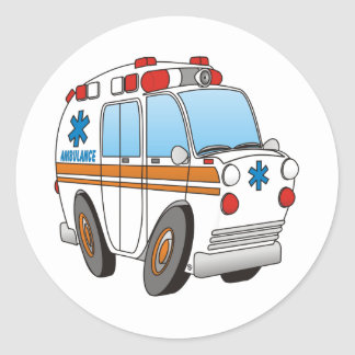 Ambulance Round Sticker