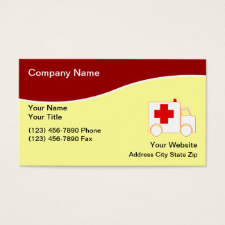 Ambulance Service Business Cards