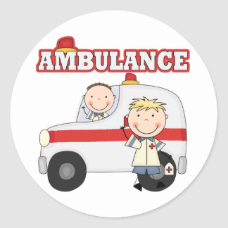 Ambulance T-shirts and Gifts Classic Round Sticker