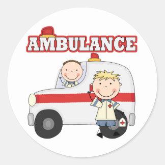 Ambulance T-shirts and Gifts Round Sticker