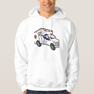 Ambulance Vehicle Emergency Medical Technician Par Hoodie