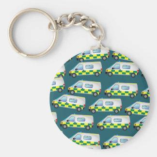 Ambulance Wallpaper Basic Round Button Key Ring