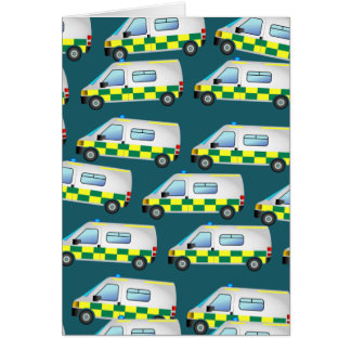 Ambulance Wallpaper Card