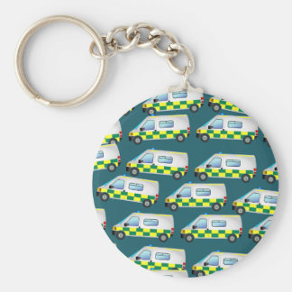 Ambulance Wallpaper Key Ring